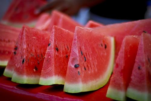 Cut Watermelon on Rind