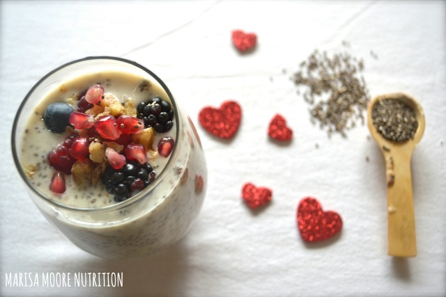 Chia Seed pudding on marisamoore.com