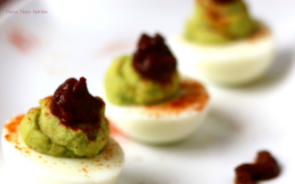 Harissa Deviled Eggs on marisamoore.com