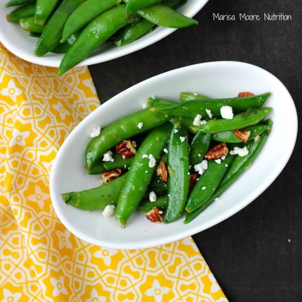Sugar Snap Pea Salad Recipe on www.marisamoore.com