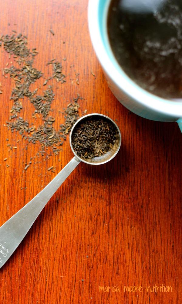 Brewed Pu-erh tea on marisamoore.com