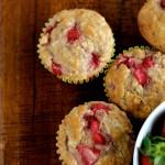 Strawberry Oatmeal Breakfast Muffins