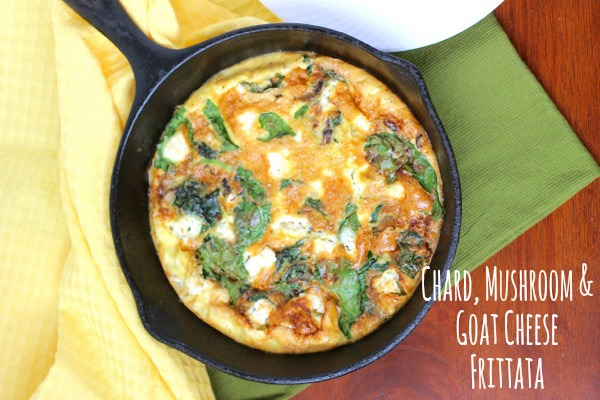 Chard, Mushroom & Goat Cheese Frittata on marisamoore.com