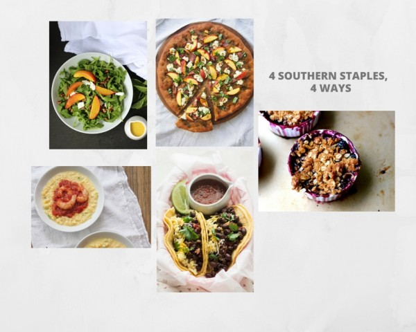 4 Southern Staples, 4 Ways Recipe Collage