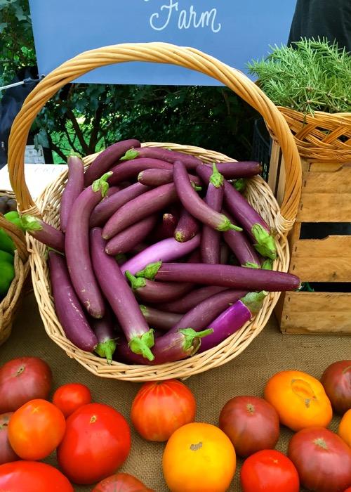 Eggplant at Grant Park Farmer's Market