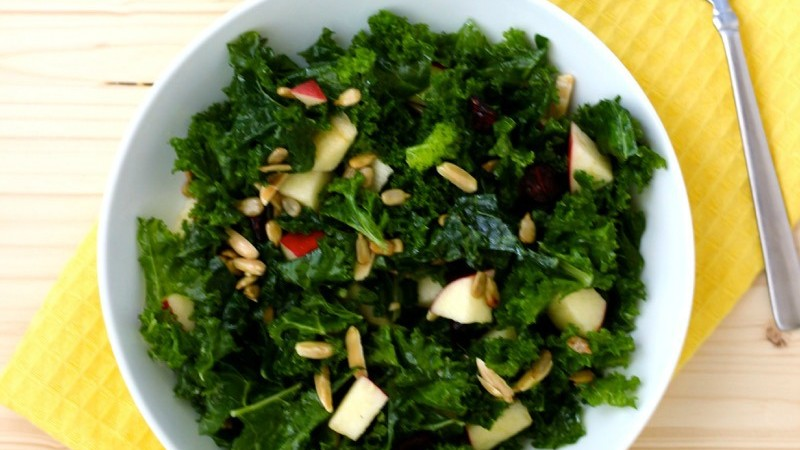Tuscan Kale & Apple Salad Natural Pregnancy Cookbook