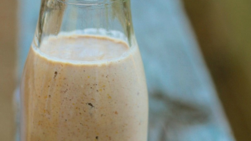 Fig and Walnut Smoothie with Probiotics on marisamoore.com
