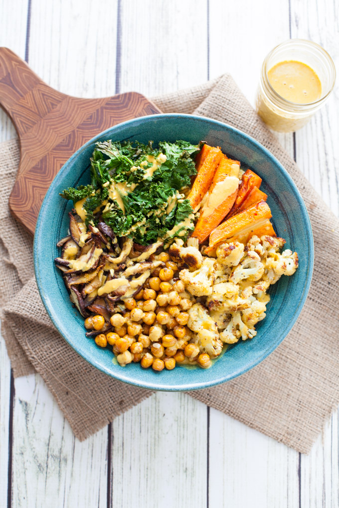 Immunity Boosting Buddha Bowl with Turmeric Tahini Dressing