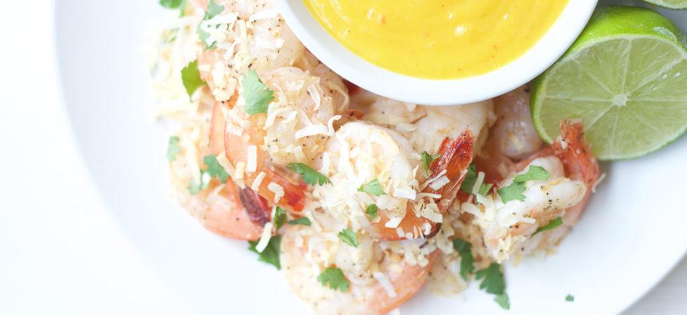 Coconut Shrimp and Mango Sauce