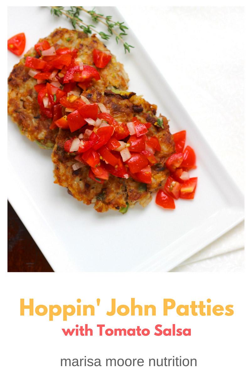 Hoppin' John Patties with Tomato Salsa - Marisa Moore Nutrition