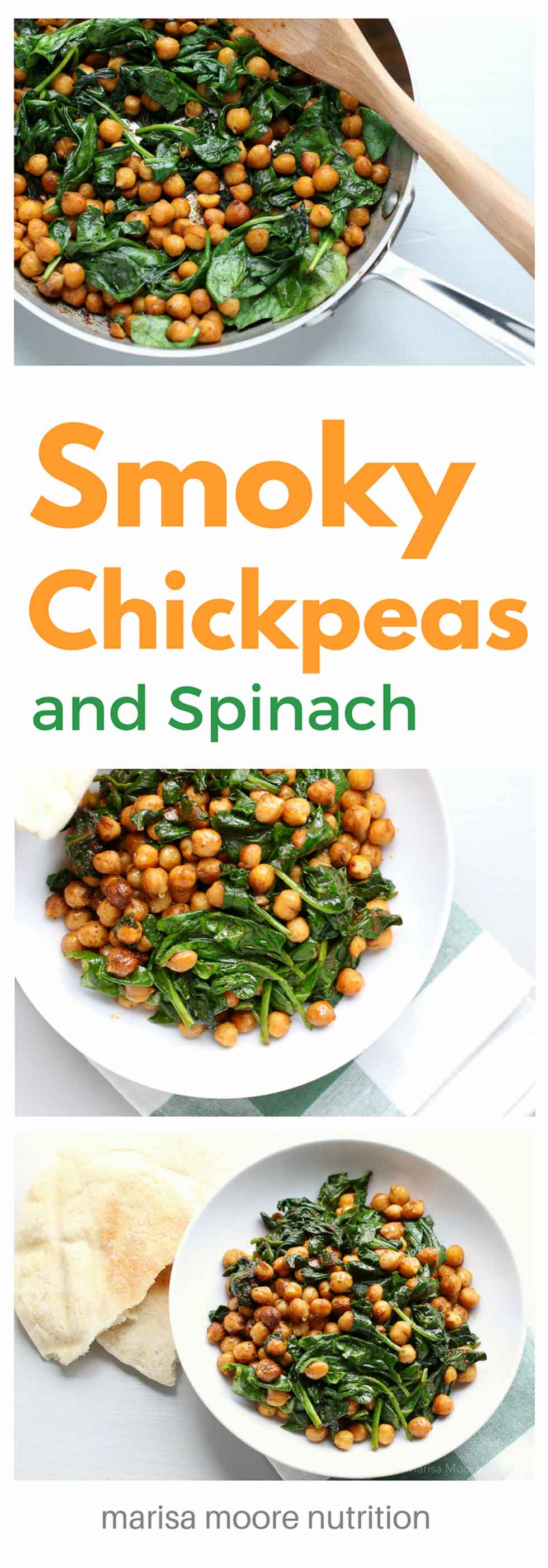 Smoky Chickpeas with Spinach - Marisa Moore | Registered Dietitian ...