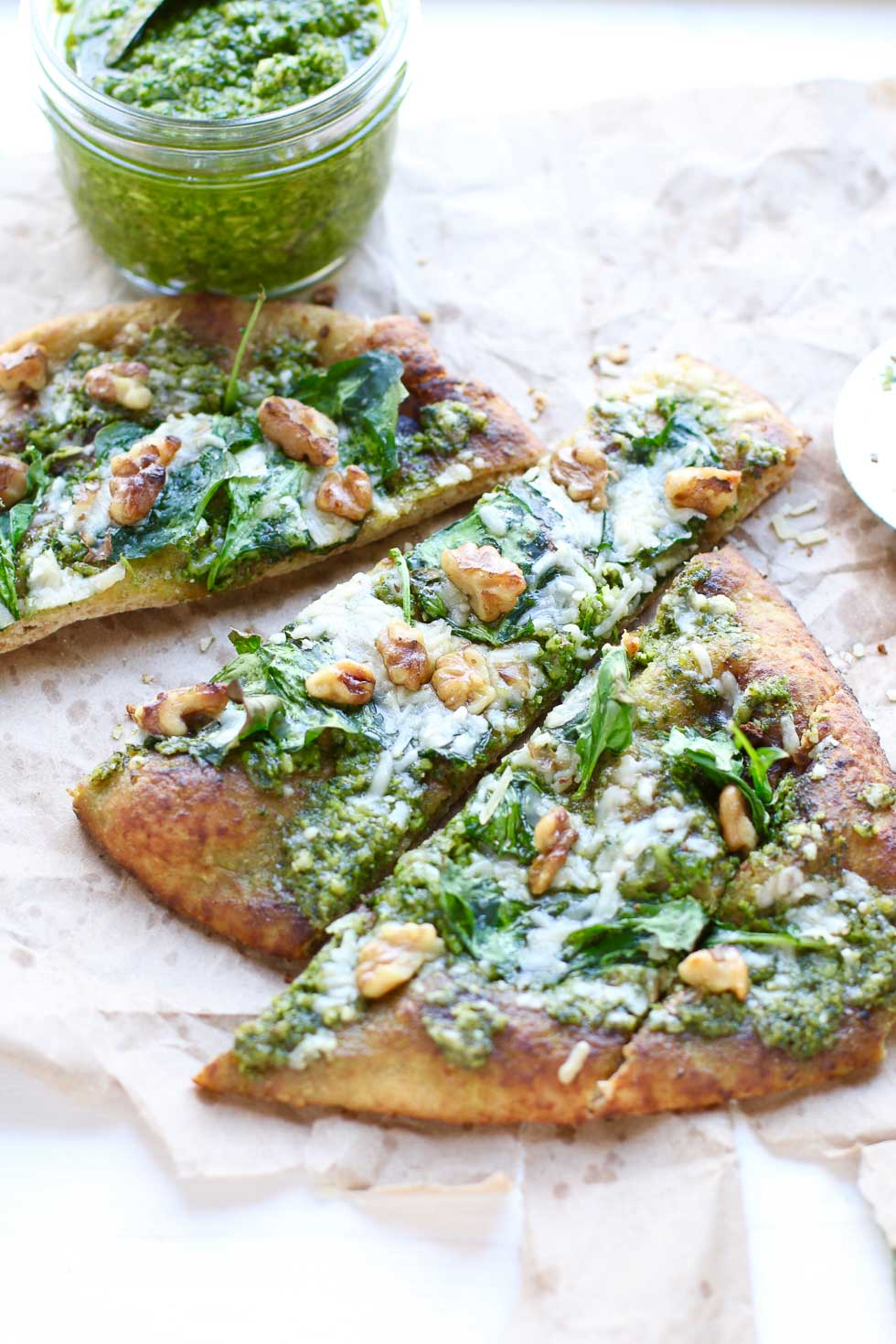 Kale Pesto Naan Pizza