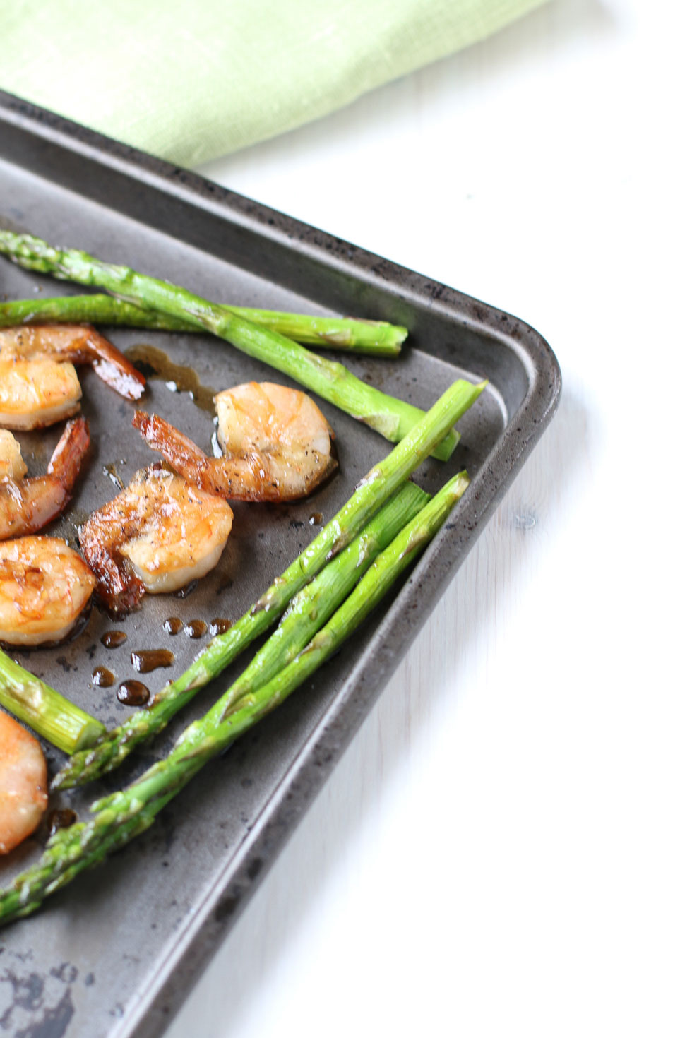Sheet Pan Honey Soy Shrimp & Asparagus