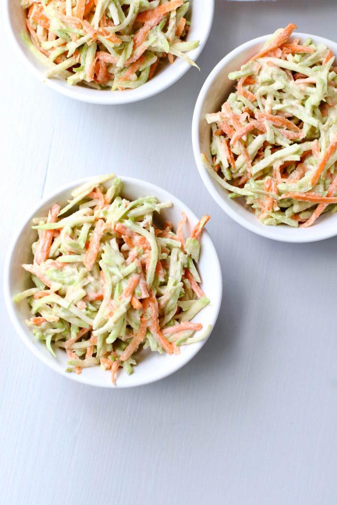Broccoli Salad with Tahini Dressing