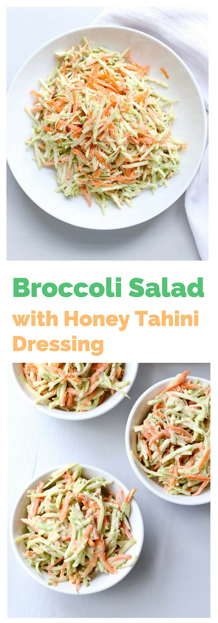 Broccoli Salad with Tahini Dressing