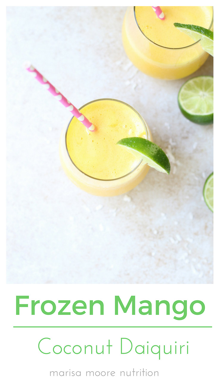 Frozen Mango Coconut Daiquiri