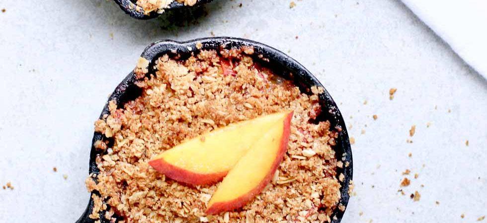Healthy Peach Crisp