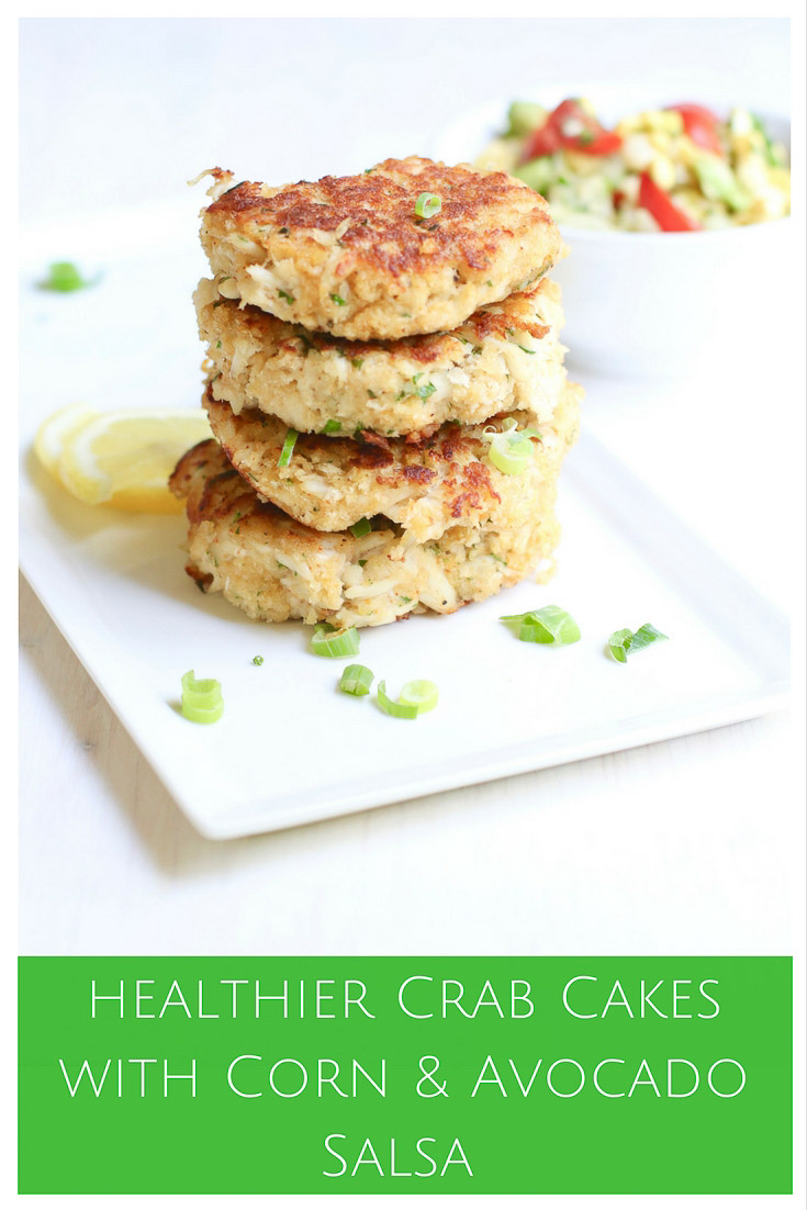 Crab Cakes with Corn Avocado Salsa | Marisa Moore Nutrition