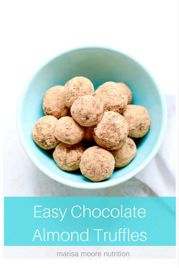 Easy Chocolate Almond Truffles