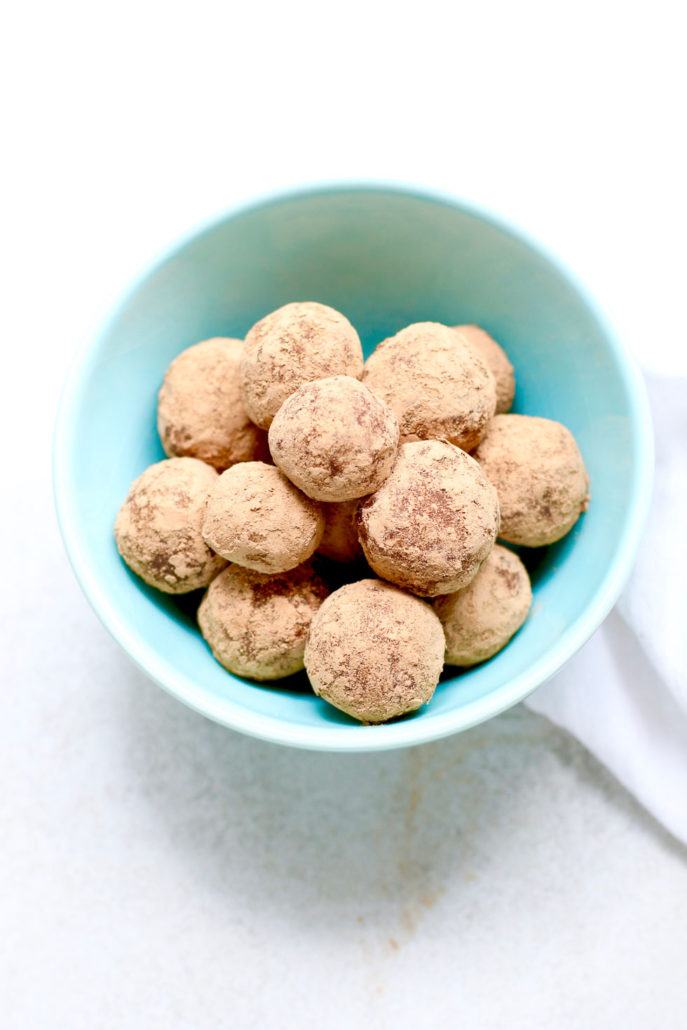 Vegan Chocolate Almond Truffles
