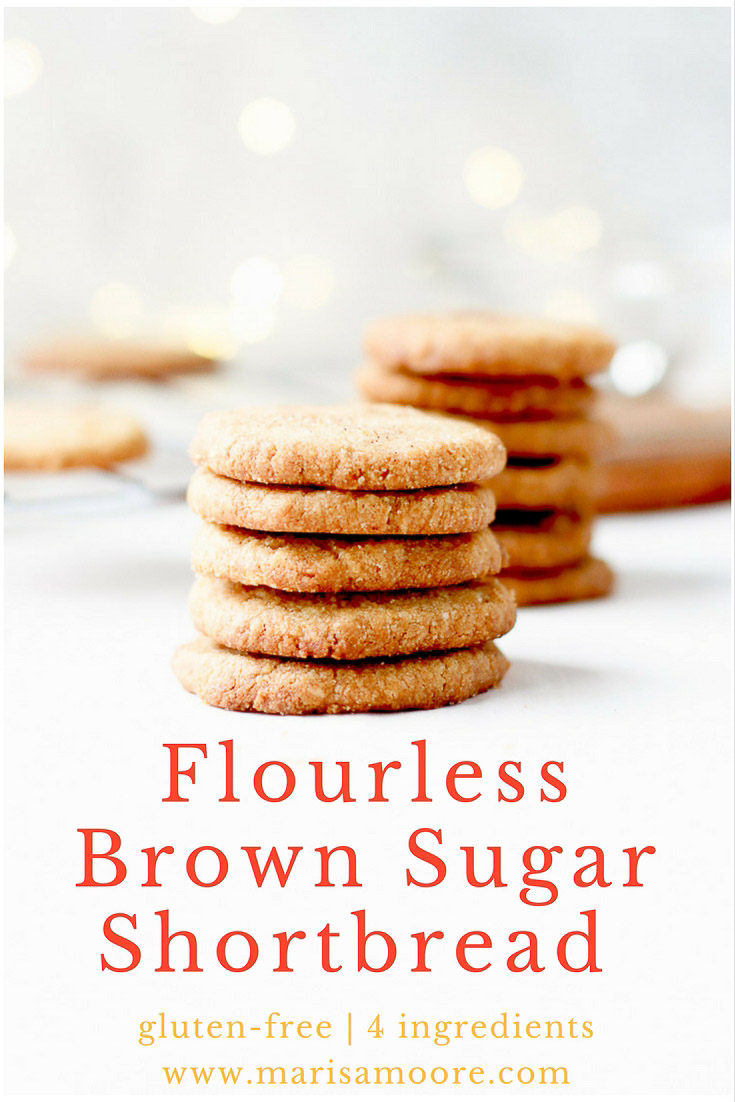 Flourless Brown Sugar Shortbread Cookies