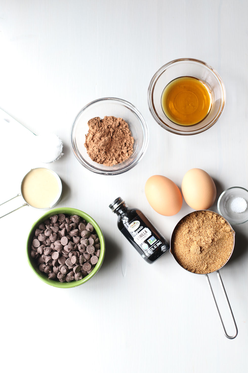 Ingredients for Flourless Tahini Brownies recipe