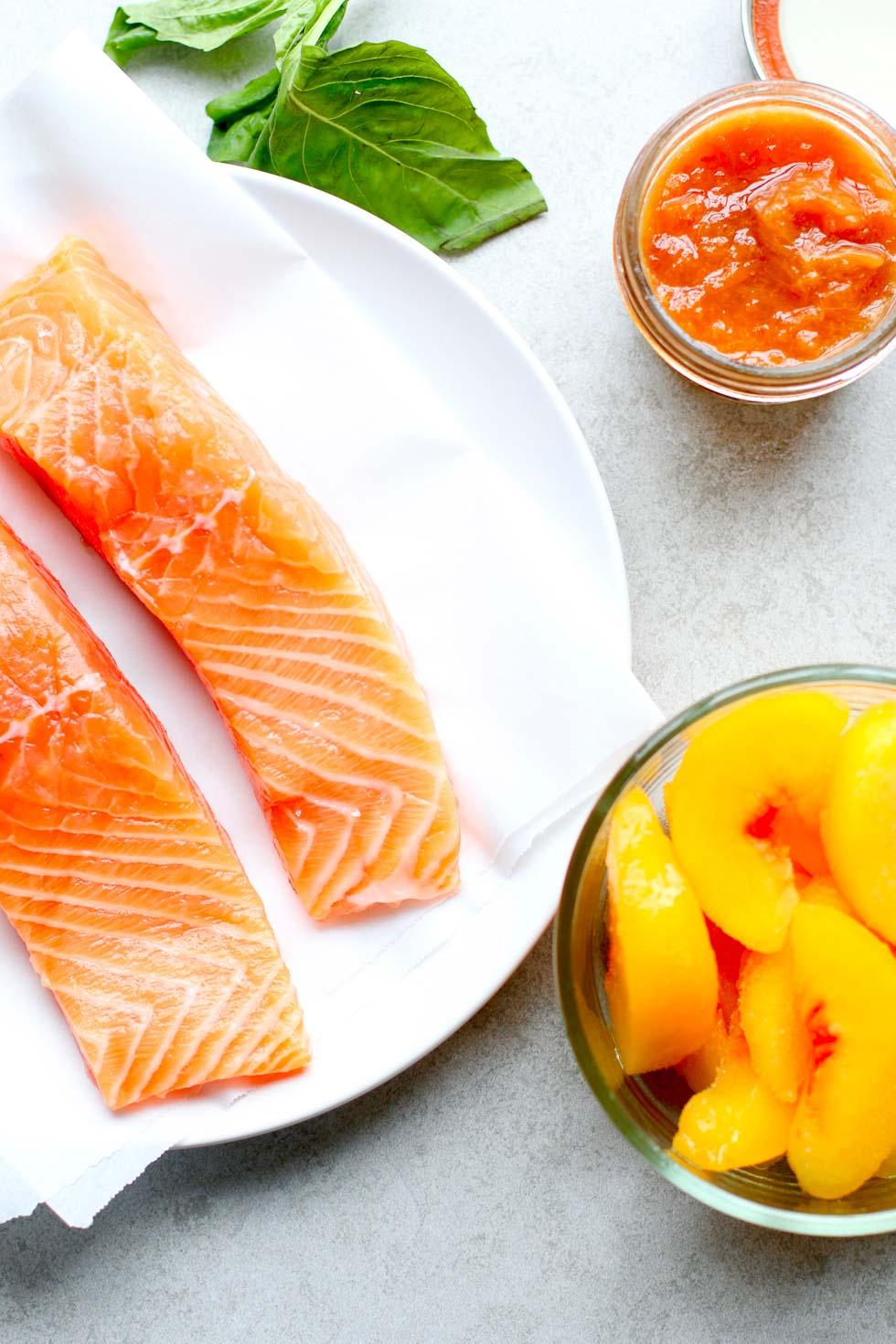 How to Make Peach Glazed Salmon - Ingredients