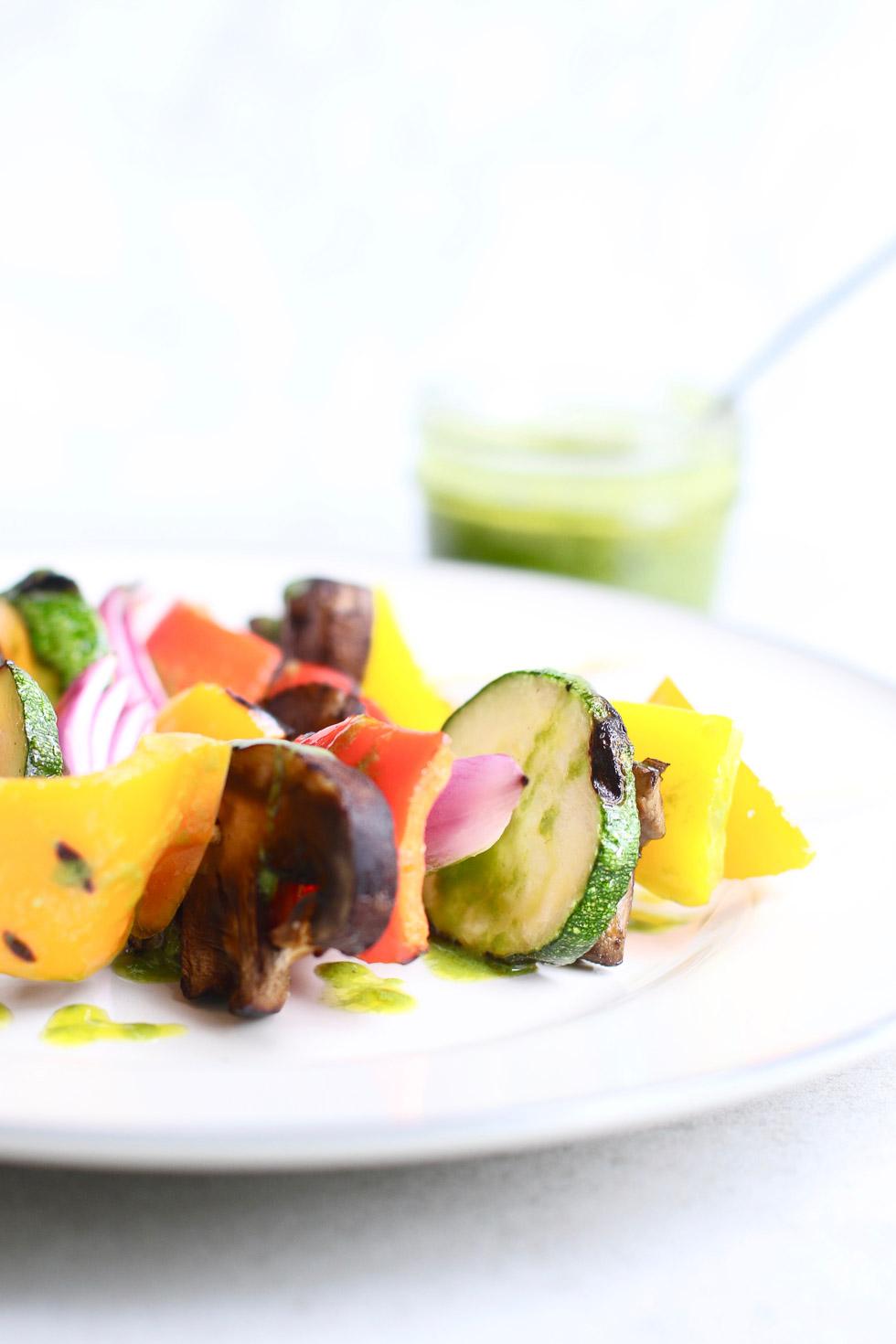 Grilled Summer Vegetables with Basil Vinaigrette