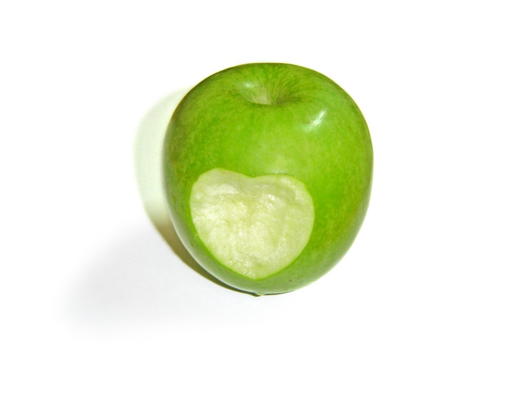 Bitten Green Apple