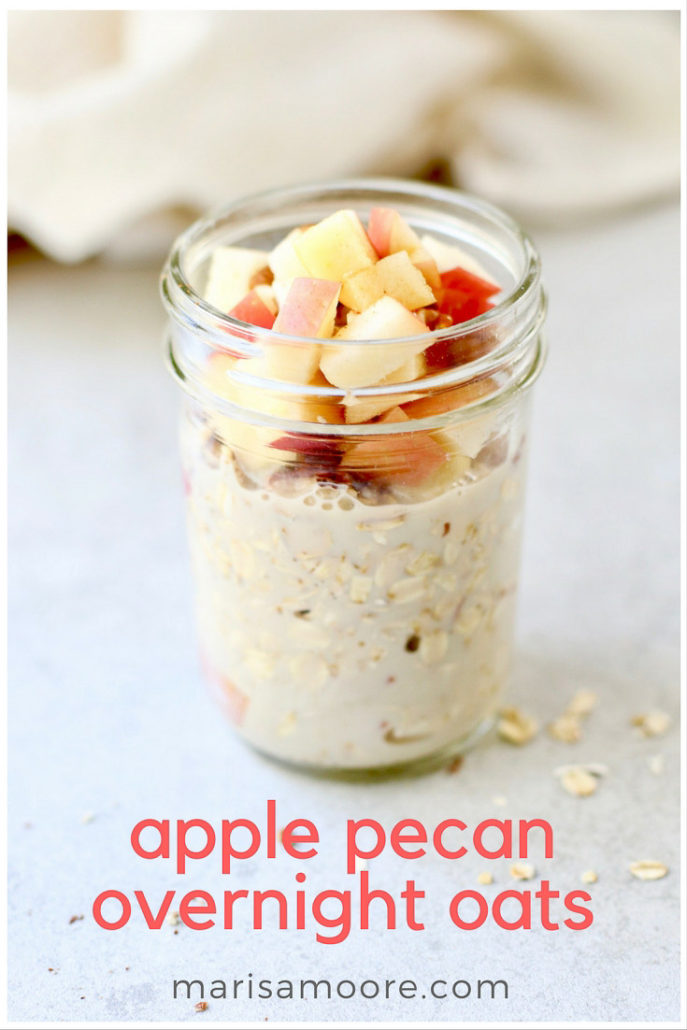 Apple Pecan Overnight Oats Recipe
