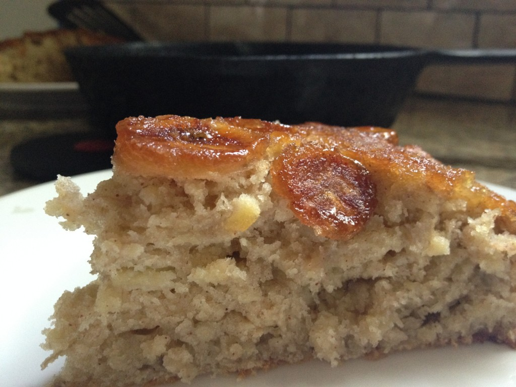 Caramelized Banana Skillet Cake
