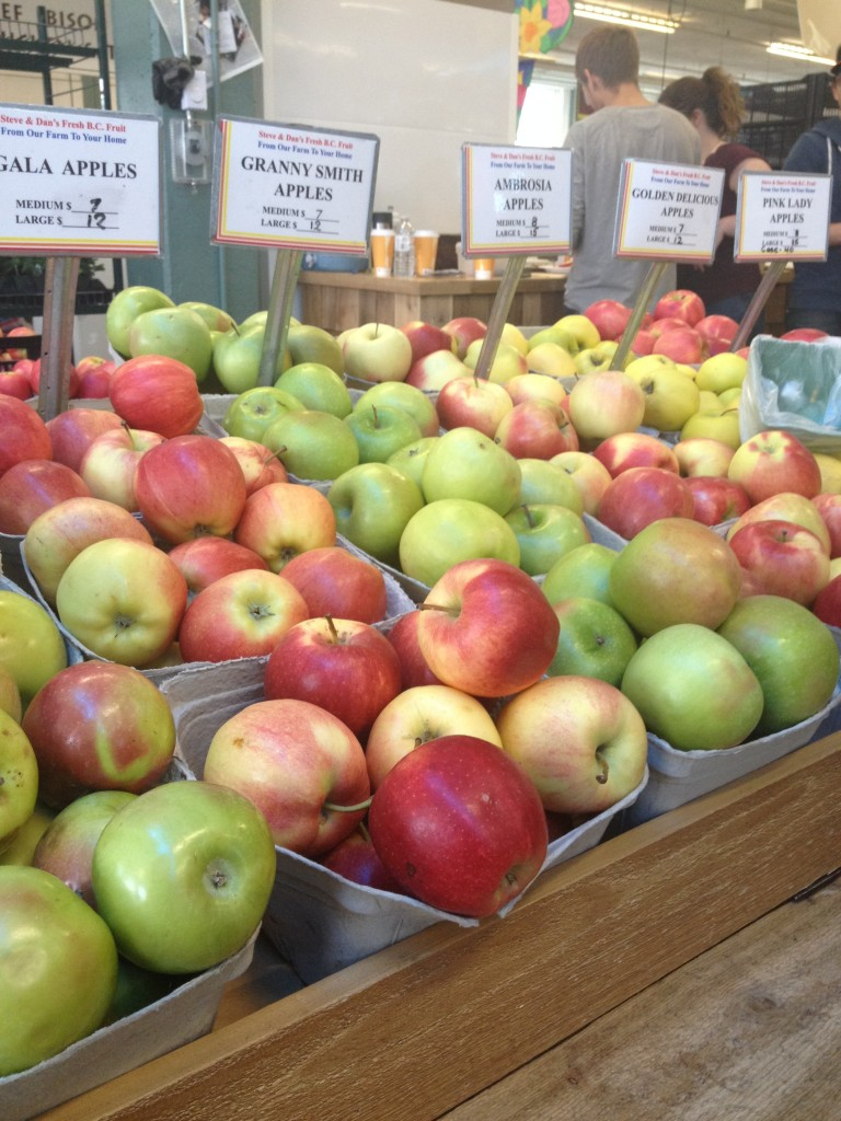 Variety of Apples on Display