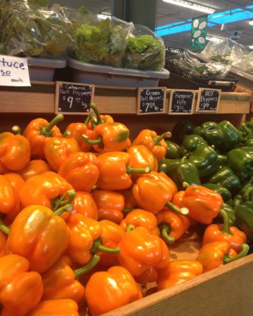 Orange, Green Peppers