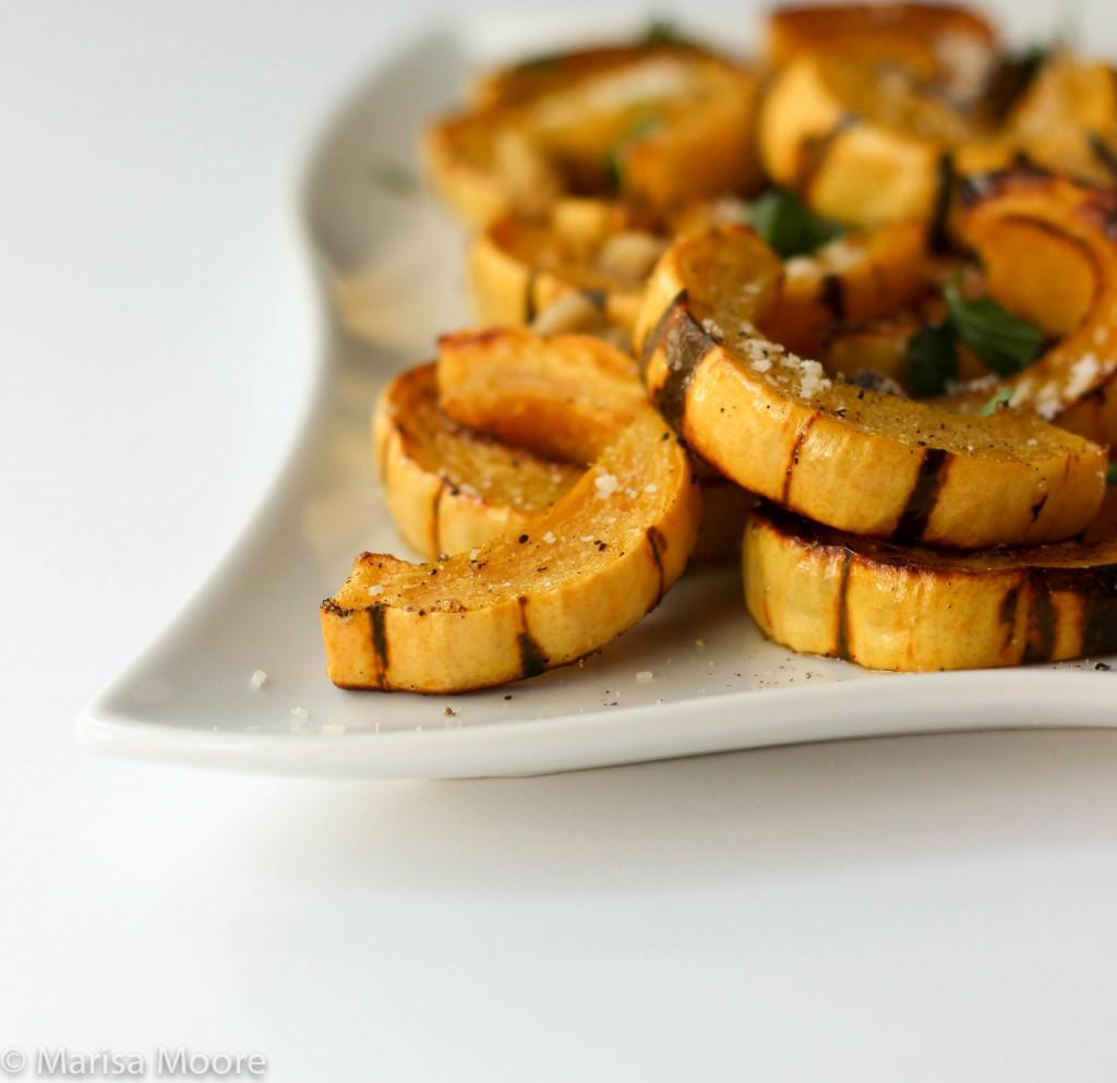 Roasted Delicata Squash marisamoore.com