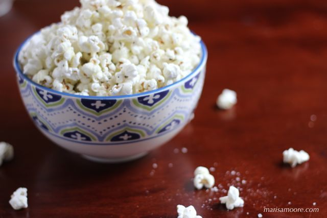 Smoked Salt Popcorn on marisamoore.com