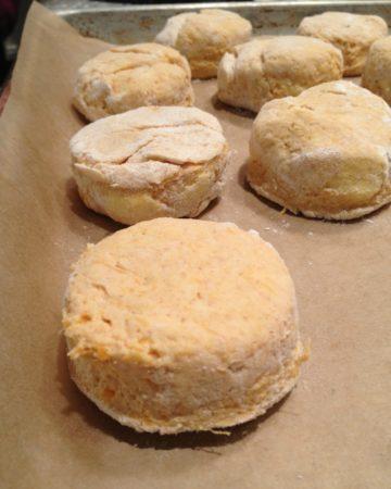 Sweet Potato Biscuit Making on www.marisamoore.com