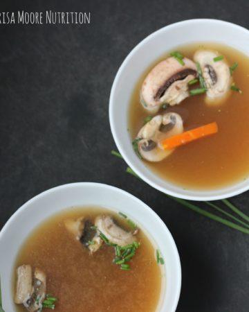 Miso Mushroom Soup on marisamoore.com