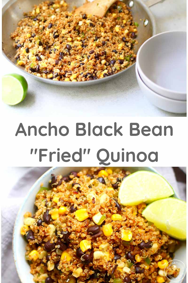 ANcho Black Bean Quinoa Stir Fry