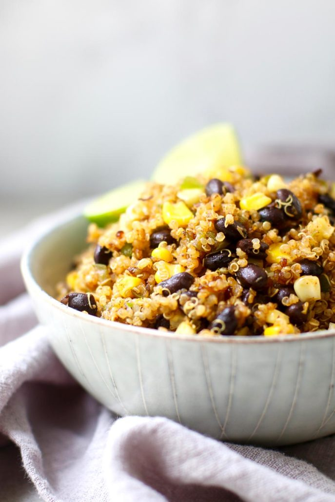 Black Bean Quinoa in a Bowl