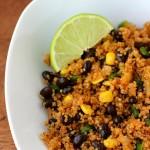 Black Bean Fried Quinoa in a bowl