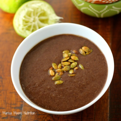 Spicy Black Bean Soup Recipe - www.marisamoore.com