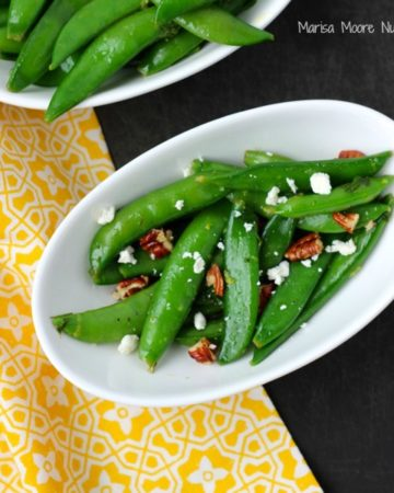 Sugar Snap Pea Salad Recipe on www.marisamoore.com