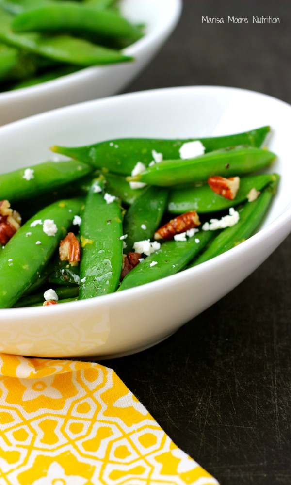 Sugar Snap Pea Salad on www.marisamoore.com