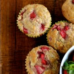 Strawberry Oatmeal Breakfast Muffins