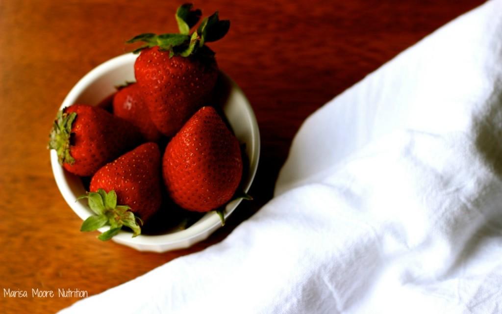 Fresh Strawberries on marisamoore.com