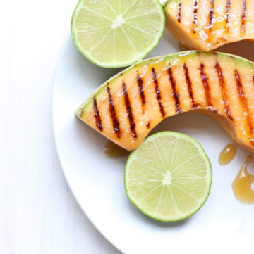Honey Lime Grilled Cantaloupe