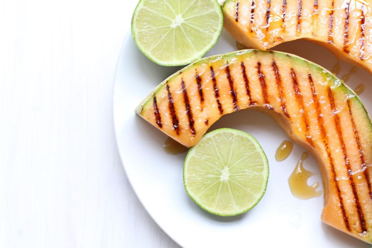 Honey Lime Grilled Cantaloupe