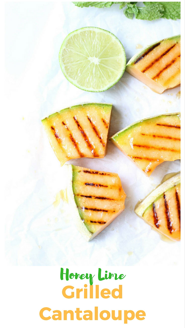 Honey Lime Grilled Cantaloupe Pin