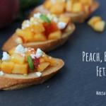 Peach-Basil-Feta Toast on marisamoore.com
