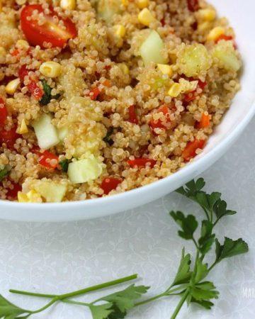 Summer Quinoa Salad on marisamoore.com